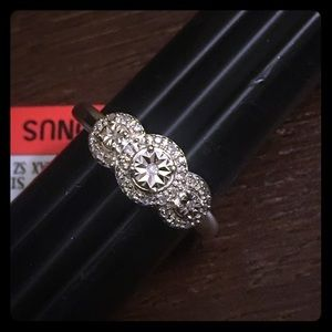 Jewelry - NWT - Sterling 1/10CT Diamond Ring
